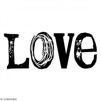 Tampon Bois Artemio - Love - 5,7 x 2,5 cm