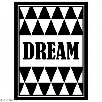 Tampon Bois Artemio - Dream - 4,8 x 3,7 cm
