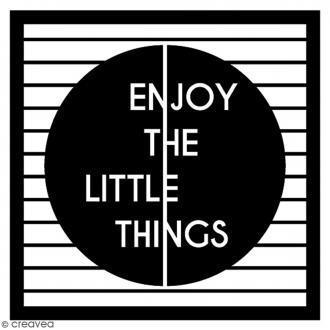 Tampon Bois Artemio - Enjoy The Little Things - 5 x 5 cm