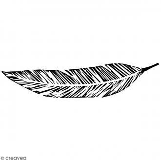 Tampon Bois Artemio - Plume - 10 x 2,7 cm