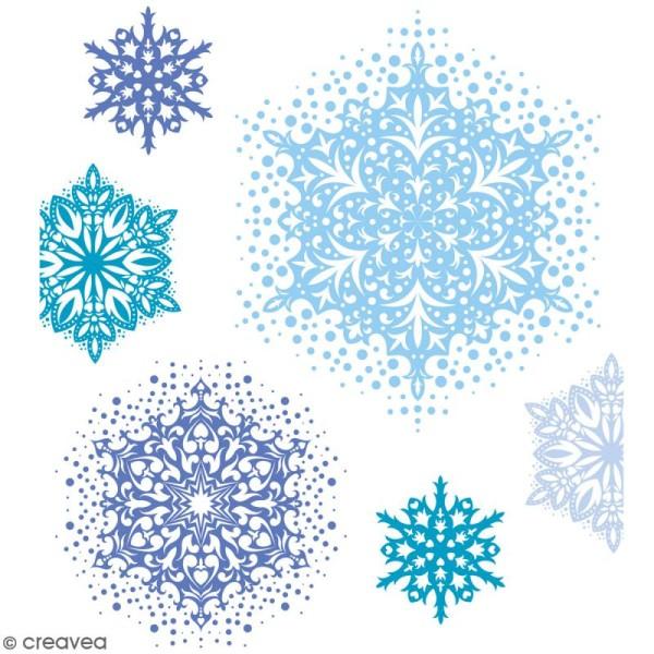 Tampons transparents Artemio - Flocons - 4 pcs - Photo n°2