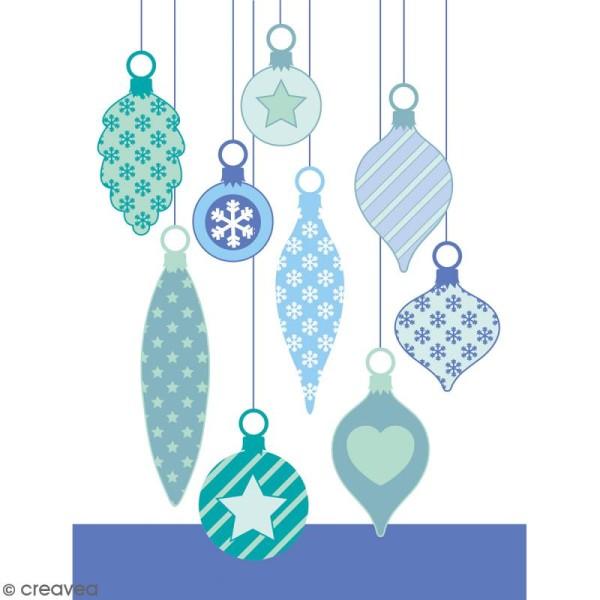 Tampons transparents Artemio - Boules de Noël - 9 pcs - Photo n°2