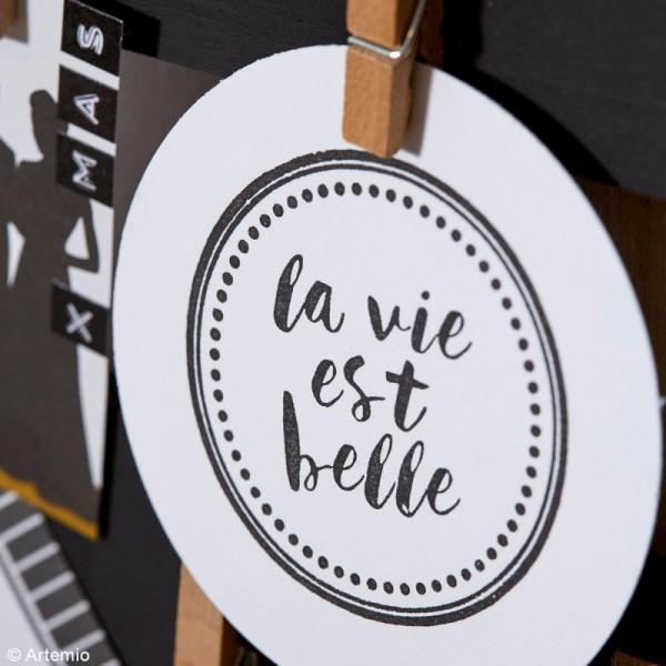 Tampons transparents Artemio - La vie est belle - 2 pcs - Photo n°2
