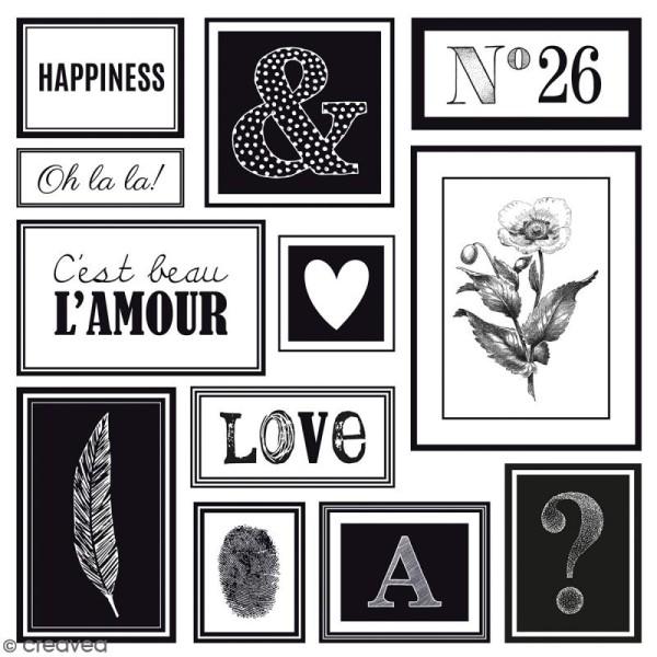 Papier Scrapbooking Artemio - Black & White - 30,5 x 30,5 cm - 40 feuilles - Photo n°6