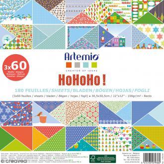 Papier Scrapbooking Artemio - Noël HoHoHo - 30,5 x 30,5 cm - 180 feuilles