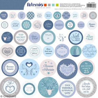 Stickers Artemio - Noël Givré 1 - 1 planche 30,5 x 30,5 cm