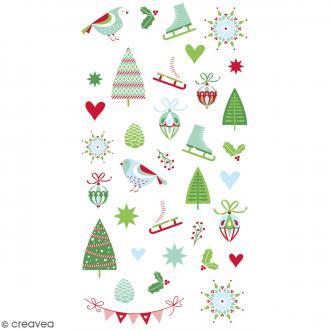 Stickers Artemio Puffies - Noël classique - 36 pcs