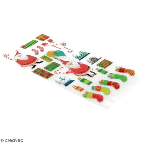 Stickers Epoxy - HoHoHo Père Noël - 28 pcs - Photo n°2