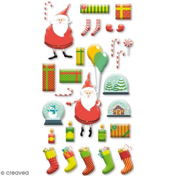 Stickers Epoxy - HoHoHo Père Noël - 28 pcs - Photo n°1