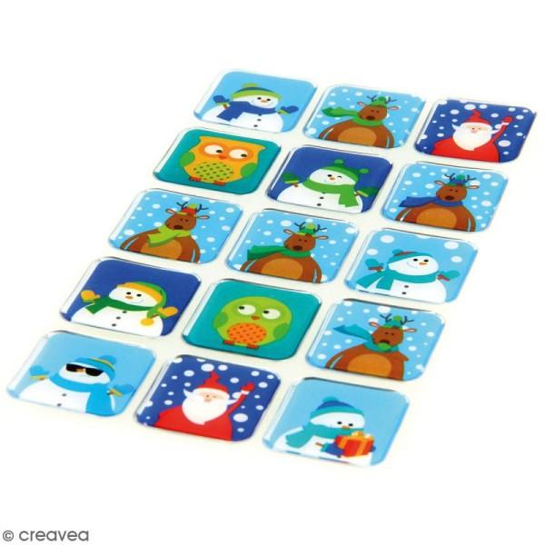 Stickers Epoxy - HoHoHo Fenetres - 15 pcs - Photo n°2