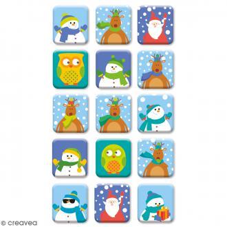 Stickers Epoxy - HoHoHo Fenetres - 15 pcs