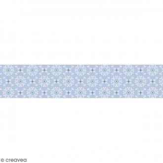 Ruban en papier Noël Givré - Flocons - 5 cm x 6,5 m