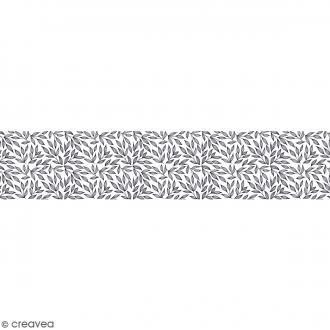 Ruban en papier Black & White - Feuilles - 5 cm x 6,5 m