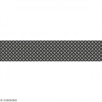 Ruban en papier Black & White - Ronds - 5 cm x 6,5 m
