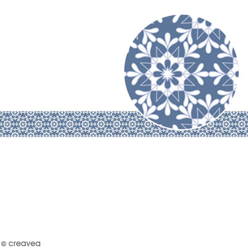Ruban en papier Noël Givré - Flocons - 2,5 cm x 9 m - Photo n°2
