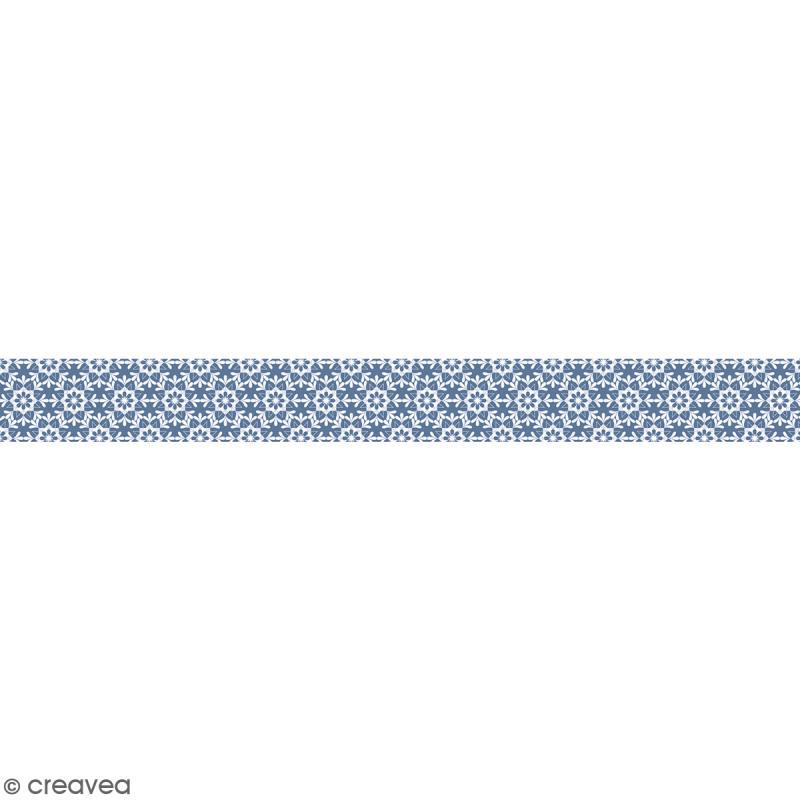 Ruban en papier Noël Givré - Flocons - 2,5 cm x 9 m - Photo n°1