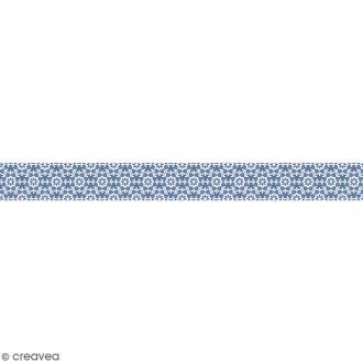 Ruban en papier Noël Givré - Flocons - 2,5 cm x 9 m
