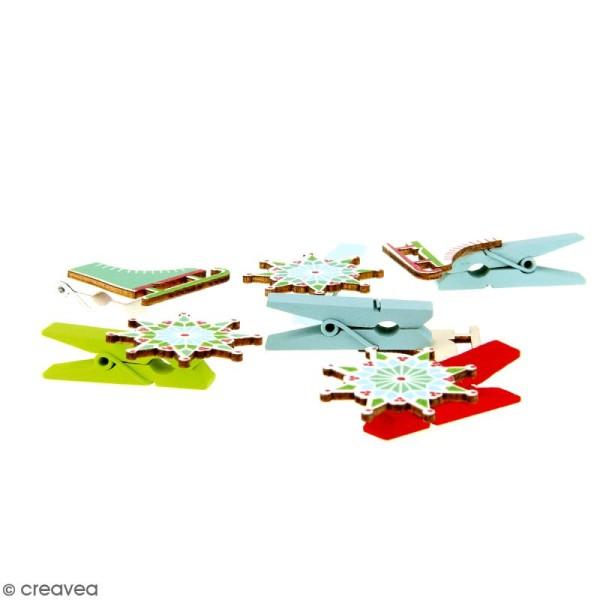 Pince à linge en bois - Noël classique - 4,5 x 3 cm - 6 pcs - Photo n°2