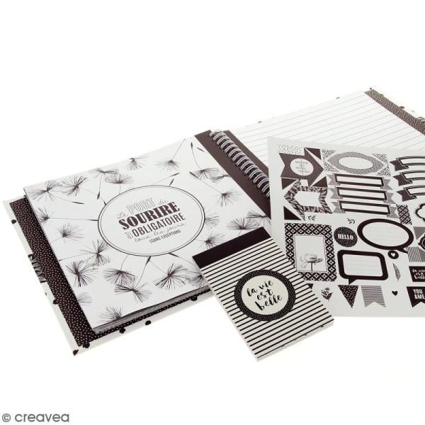 Kit Smash Book Black & White - Photo n°4