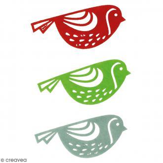 Formes en feutrine - Oiseaux Moineaux - 3 pcs