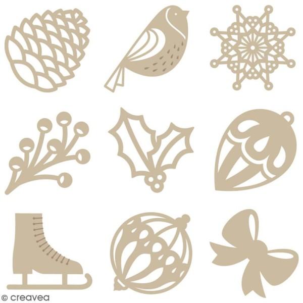 Set de mini silhouettes en bois - Noël Classique - 27 pcs - Photo n°1