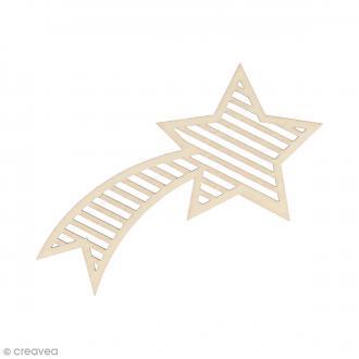 Silhouette Etoile filante en bois 11 x 5,8 cm - 3 pcs