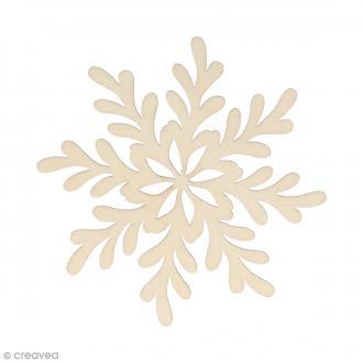 Silhouette Flocon givré en bois 8,5 x 8,5 cm - 3 pcs