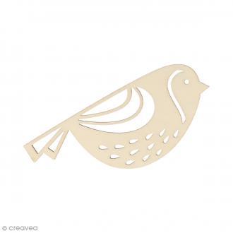 Silhouette Oiseau en bois 10,7 x 4,5 cm - 3 pcs