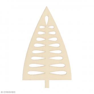 Silhouette Sapin en bois 10 x 6 cm - 3 pcs