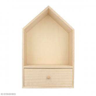 Maison à tiroir en bois - 20 x 32 cm