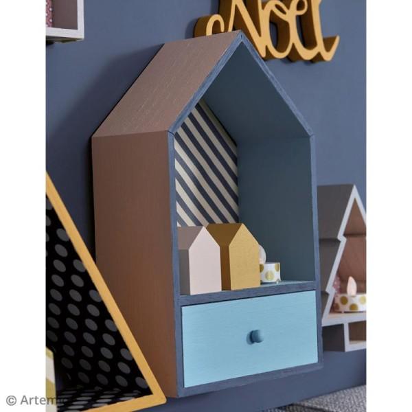 Petites maisons en bois d corer 6 pcs objets divers d corer creavea - Petites maisons en bois ...