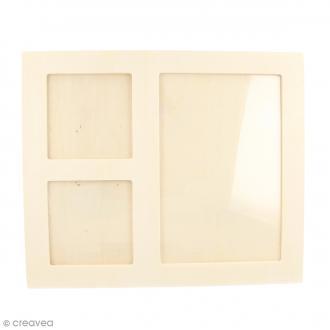 Cadre en bois 3 vues - 22 x 18 cm