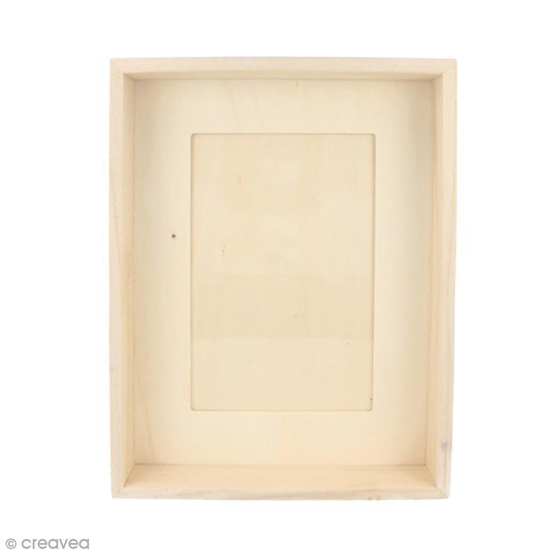 Cadre en bois profond - 21 x 12,5 x 4 cm - Photo n°1