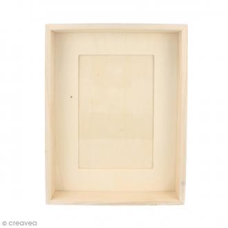 Cadre en bois profond - 21 x 12,5 x 4 cm