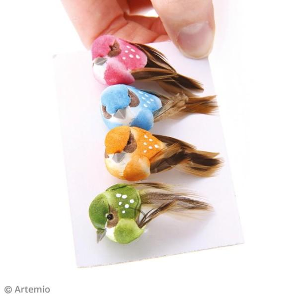 Oiseaux décoratifs de 4 cm - 4 pcs - Photo n°3