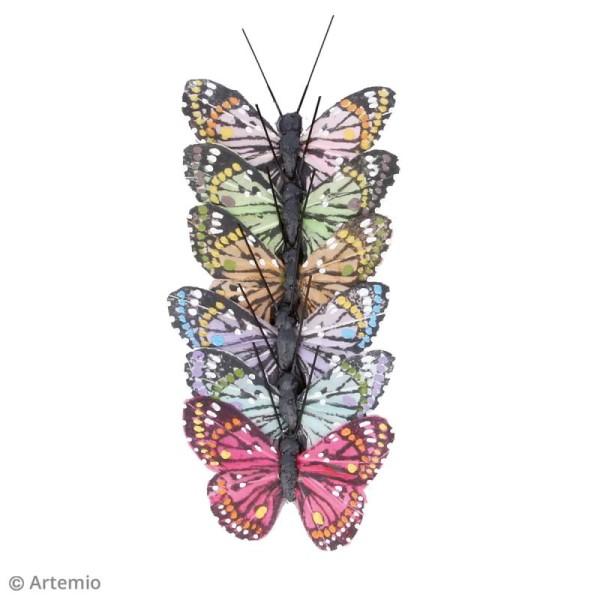 Papillons décoratifs de 5 cm - 6 pcs - Photo n°2