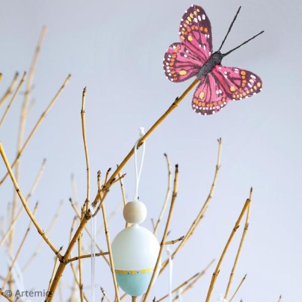 Papillons décoratifs de 5 cm - 6 pcs - Photo n°3