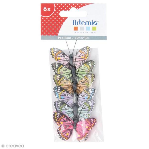 Papillons décoratifs de 5 cm - 6 pcs - Photo n°1