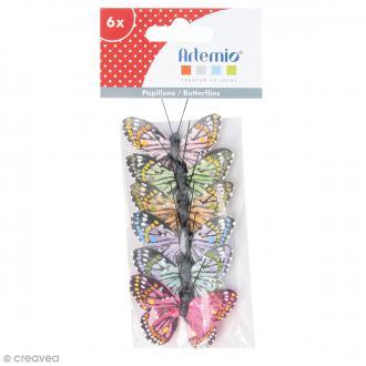Papillons décoratifs de 5 cm - 6 pcs