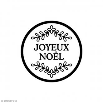 Tampon Bois - Joyeux Noël - 2,8 x 2,8 cm