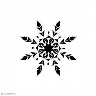 Tampon Bois - Flocon de neige - 2,8 x 2,8 cm