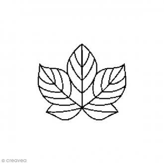 Tampon Bois - Feuille - 2,6 x 2,6 cm