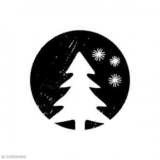 Tampon bois Woodies - Noël sapin - 3,5 cm