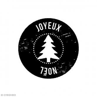 Tampon bois Woodies - Joyeux Noël - 3,5 cm