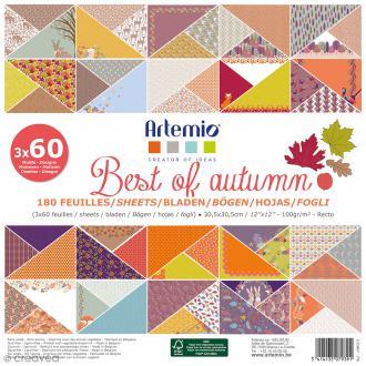 Papier scrapbooking - Best of automn - 30,5 x 30,5 cm - 180 feuilles
