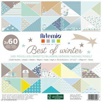 Papier scrapbooking - Best of winter - 30,5 x 30,5 cm - 180 feuilles