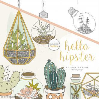 Livre de coloriage - Hello Hipster - 43 motifs