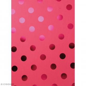 Papier scrapbooking Bazzill Foil - Lollipop à Pois métallisés - 30 x 30 cm