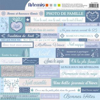 Stickers Artemio - Noël givré- 1 planche de 30,5 x 30,5 cm