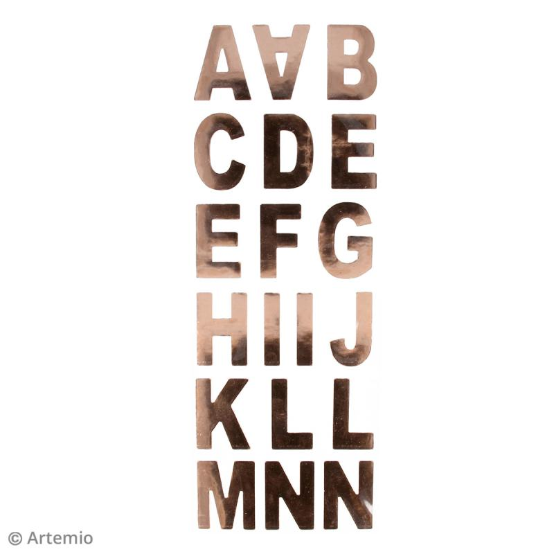 Stickers Alphabet - Cuivré - 37 lettres - Photo n°2
